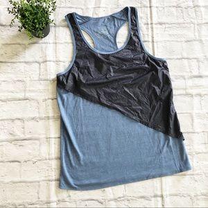 Oiselle blue athletic running tank size 10